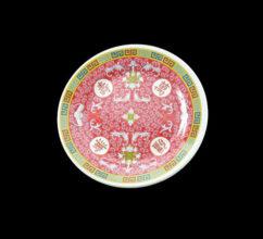 MR1008 – 8″ RED MELAMINE ROUND PLATE