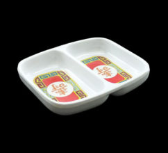 MR5003 – RED MELAMINE DOUBLE DISH