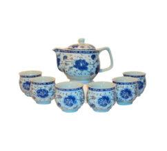 TS4 – 7pc BLUE FLOWER TEA SET