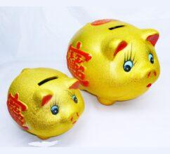 Golden pig money box 9″ – LP9